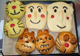 かわいいキャラクターパンを作りましょう!